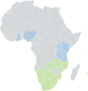 Livingfacts coverage in Africa